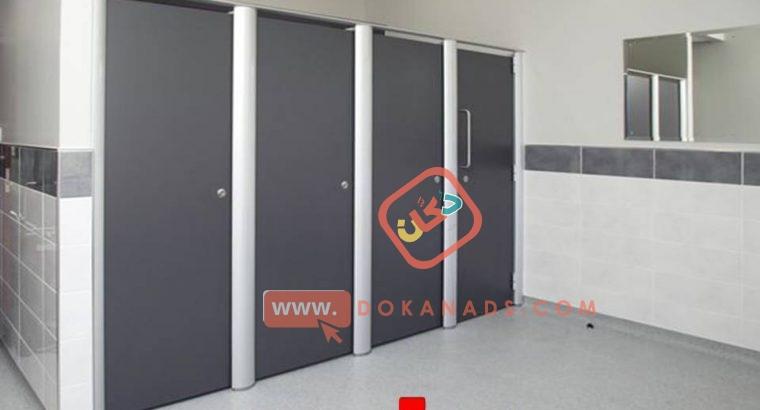 تركيبا قواطيع وفواصل حمامات سعر المتر يصل 1400